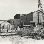 The construction of the plant's entrance checkpoint
